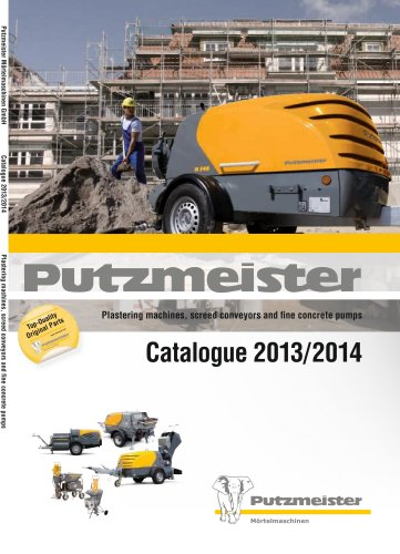 Plastering machines, screed pumps and fine concrete pumps. Catalogue 2011/2012