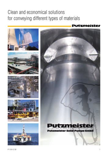 Putzmeister Solid Pumps - Clean and economical solutions for conveying different types of materials