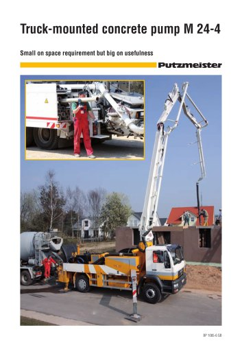 Truck-mounted concrete pump M 24-4