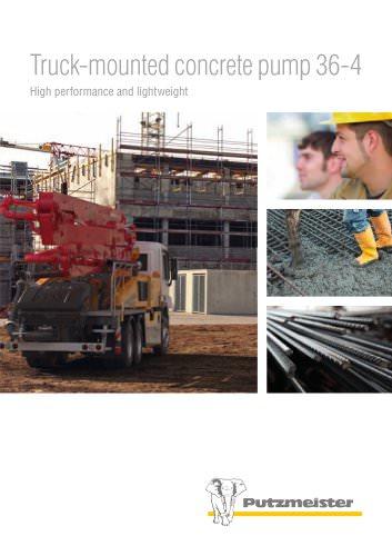 Truck-mounted concrete pump M 36-4 (BP 4439)