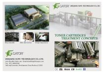 Toner cartridges recycling line