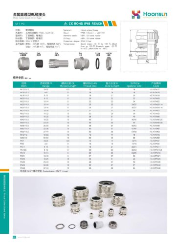 Metal cable gland Direct- Type Hx-NT
