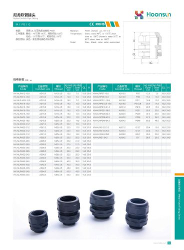 Nylon Flexible Pipe Fitting HX-NLR