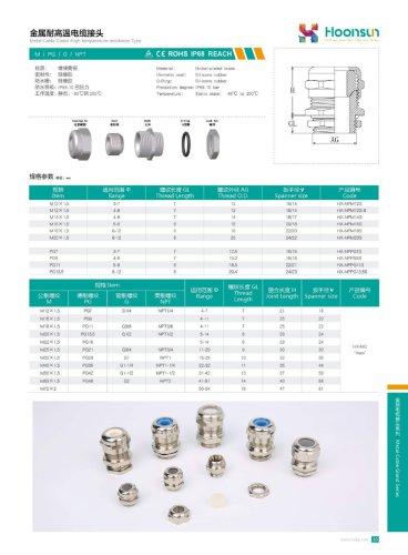 Silicon rubber Cable gland HX-NG