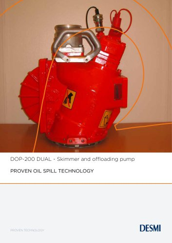 DOP-200 DUAL - Skimmer and offloading pump
