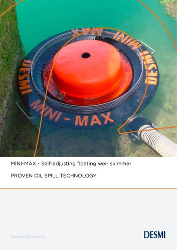MINI-MAX - Self-adjusting floating weir skimmer
