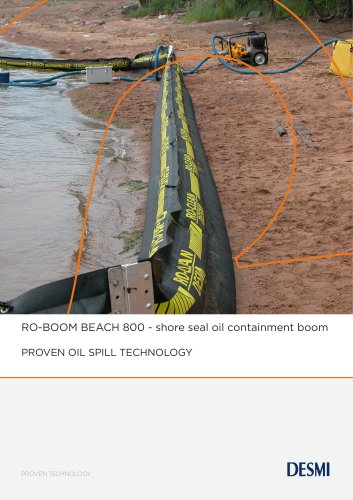 RO-BOOM BEACH 800 - shore seal oil containment boom