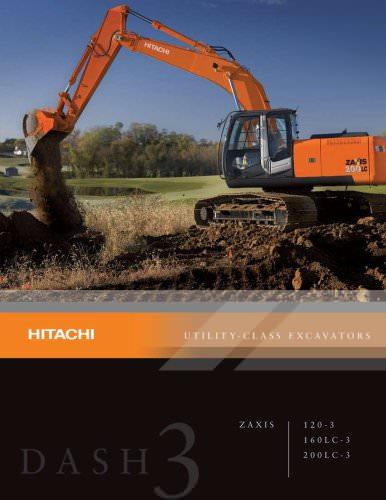 Hitachi 120-3, 160LC-3, 200LC-3