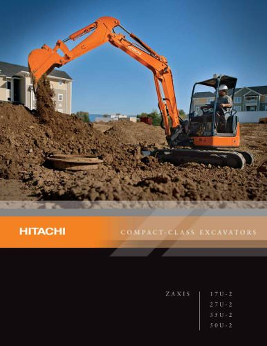 Hitachi Compact Class Excavators