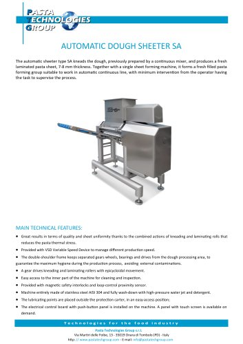 AUTOMATIC DOUGH SHEETER SA