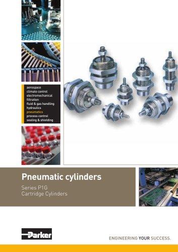 Pneumatic Cylinders Cartidge Cylinders Series P1G - PDE2571TCUK-ul