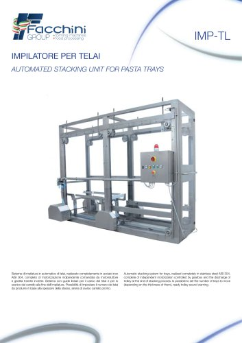 AUTOMATED STACKING UNIT FOR PASTA TRAYS Automatic