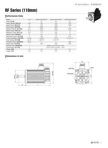 AC SERVOMOTOR - 110S SERIES