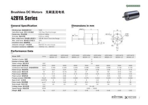 Brushless Motor/Three-phase/42BYA Series