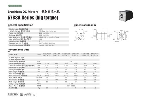 Brushless Motor/Three-phase/57BSA Series