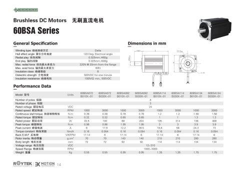Brushless Motor/Three-phase/60BSA Series