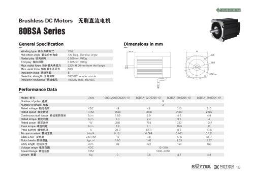 Brushless Motor/Three-phase/80BSA Series