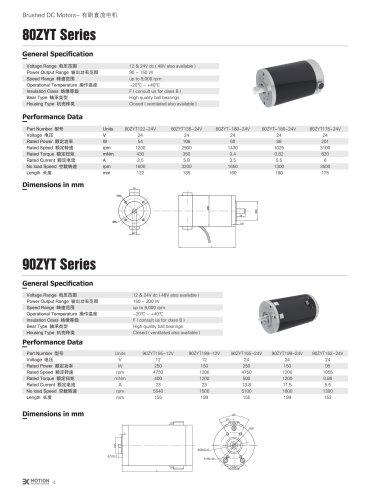 DC MOTOR/BRUSHED/90ZYT Series