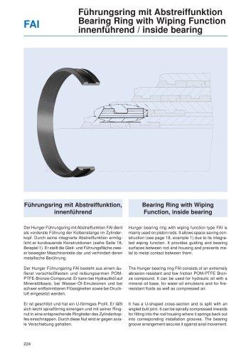 Bearing Ring with Wiping Function, inside bearing FAI