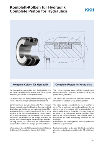 Complete Piston for Hydraulics KKH