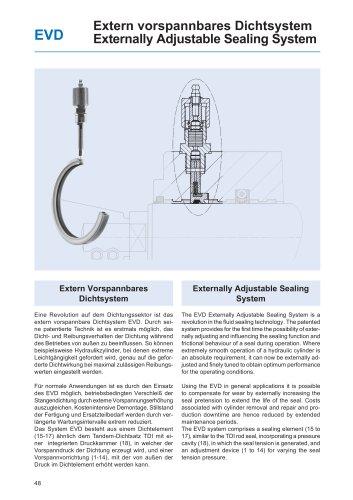 Externally Adjustable Sealing System EVD