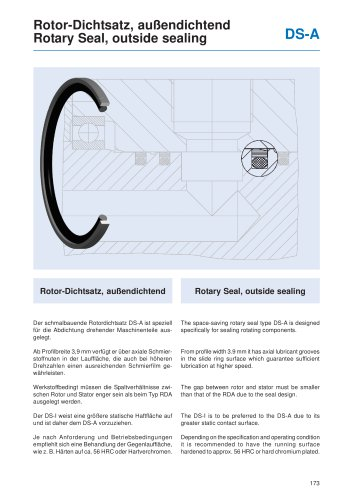 Rotary Seal, outside sealing DS-A