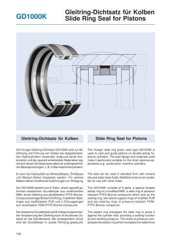 Slide Ring Seal for Pistons GD1000K