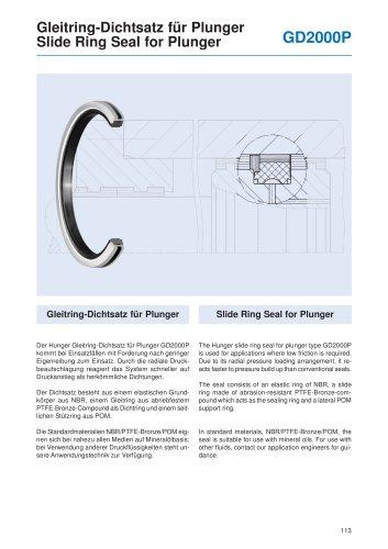 Slide Ring Seal for Plunger GD2000P