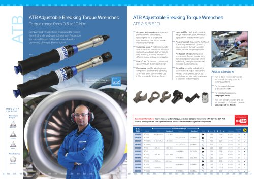 ATB Adjustable Breaking Torque Wrenches