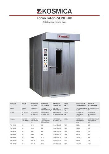 FRP / Rotating convection oven