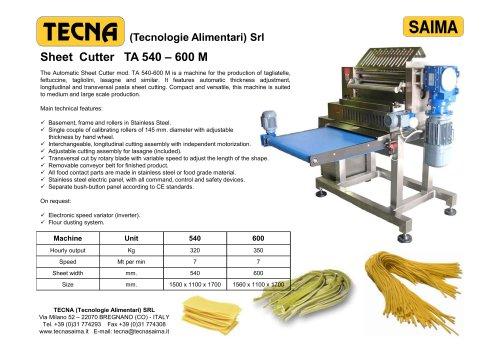 AUTOMATIC CUTTERS TA 540 - 600 M