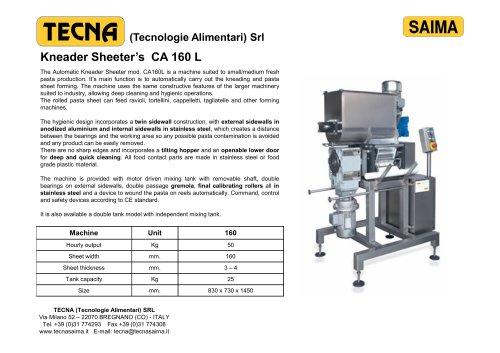 Kneader Sheeter's CA 160 L