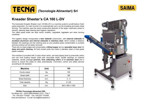 Kneader Sheeter's CA 160 L-DV