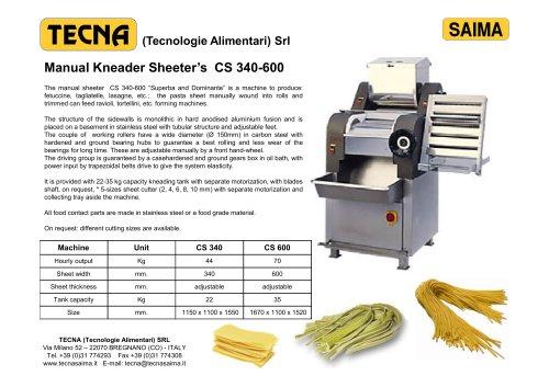 Manual Kneader Sheeter's CS 340-600