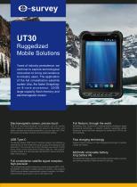 UT30 Ruggedized Mobile Solutions Datasheet