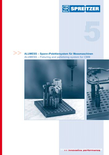 ALUMESS fixturing and palletizing system for CMM