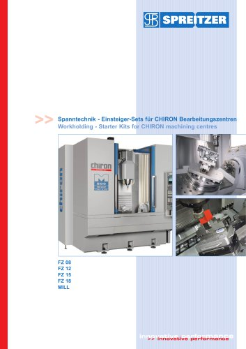 Workholding - Starter Kits for CHIRON machining centres