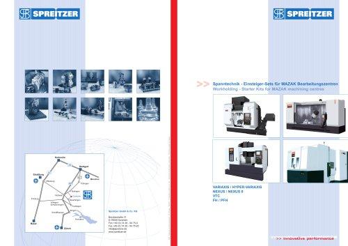 Workholding - Starter Kits for MAZAK machining centres