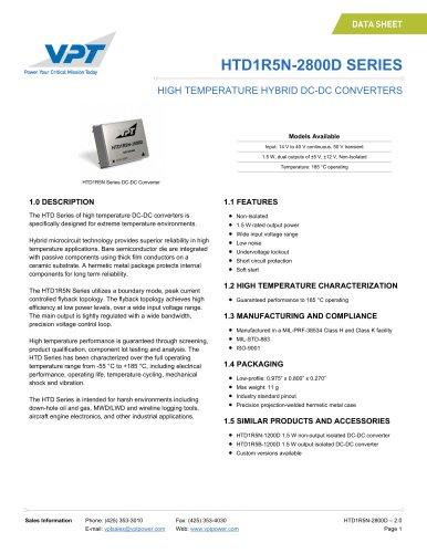 HTD1R5N-2800D SERIES