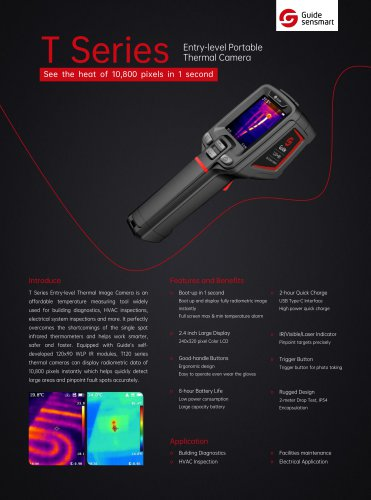 Guide T120 Entry-level Portable Thermal Camera