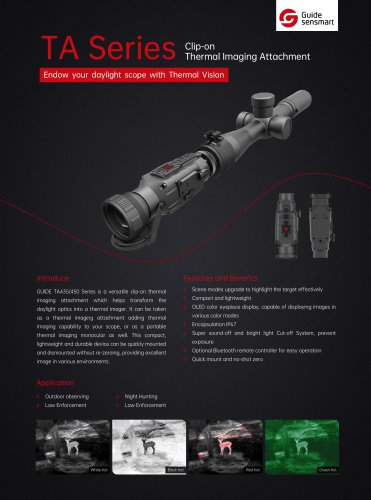 Guide TA450 Clip-on Thermal Imaging Attachment