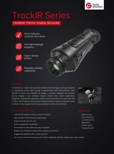 Guide TK50 Handheld Thermal Imaging Monocular
