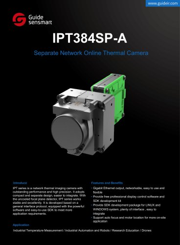 IPT384SP-A Separate Network Online Thermal Camera