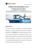 Horizontal injection molding machine TH160