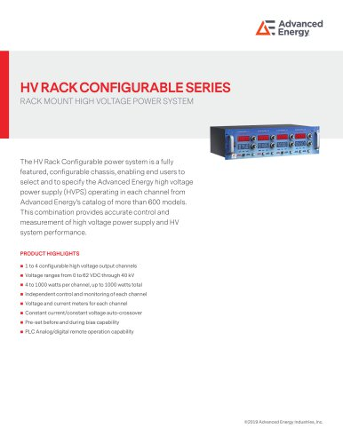 HV RACK CONFIGURABLE SERIES