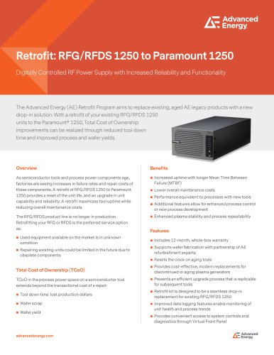 RFG/RFDS 1250 to Paramount 1250