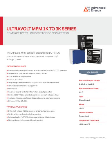 ULTRAVOLT MPM 1K TO 3K SERIES
