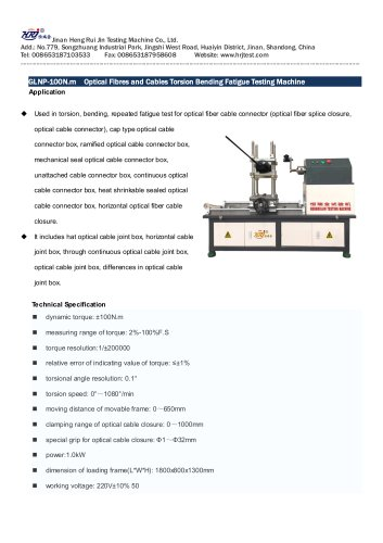 GLNP-01 Optical Fibers and Cables Torsion Bending Fatigue Testing Machine