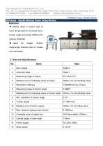 NDW-500 Metallic Materials Torsion Testing Machine