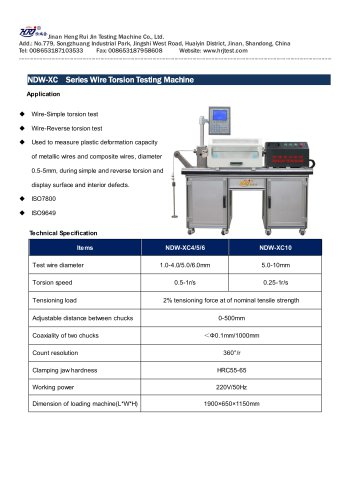 NDW Series Wire Torsion Testing Machine